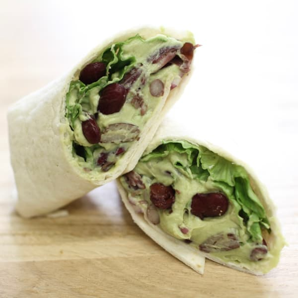 guacamole red bean wrap