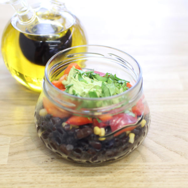 black turtle bean salad
