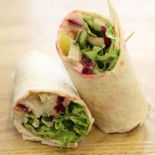 crudités & sesame cream wrap